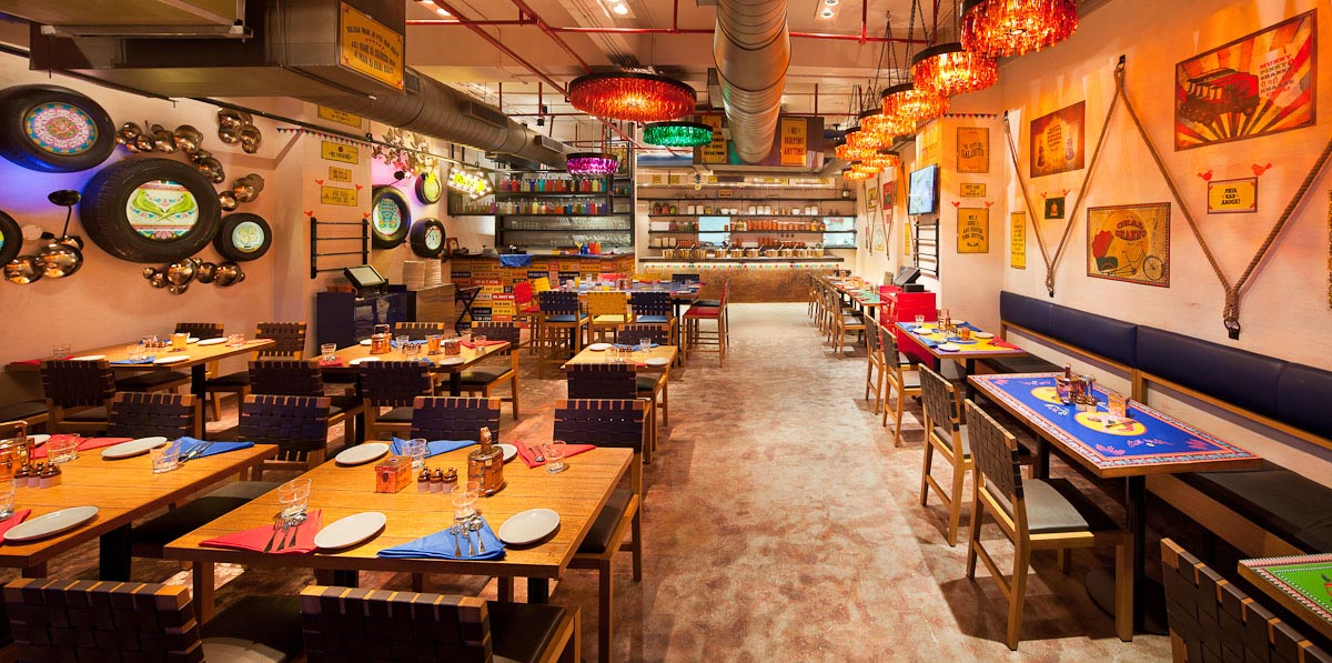 Dhaba by claridges at cyber hub gurgaon synthesis Interior designers for home in gurgaon