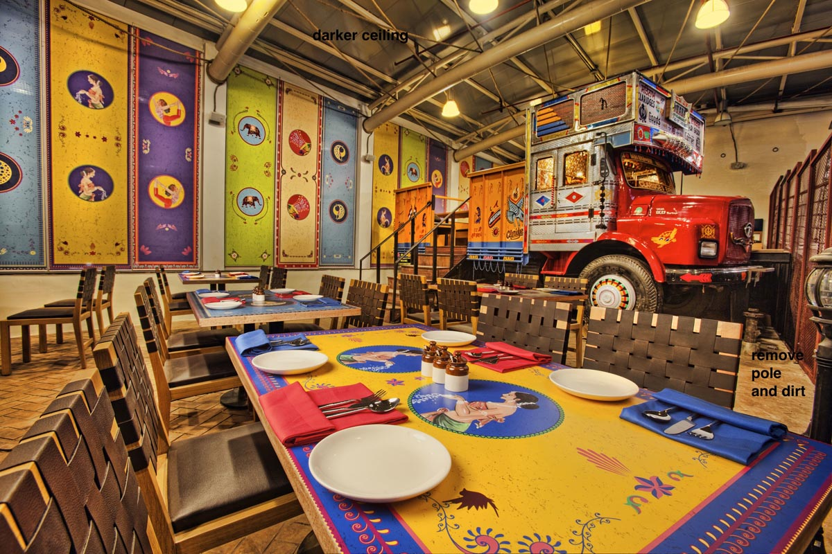 dhaba by claridges synthesis architecture interior design